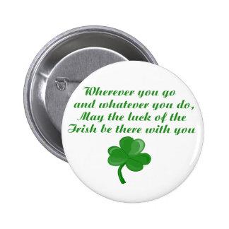 Botón irlandés del poema pin