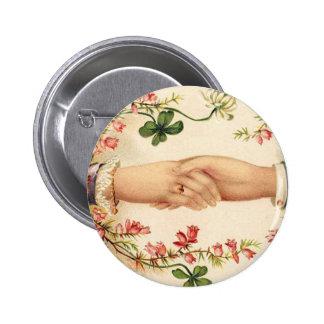 Botón irlandés romántico del boda pin redondo de 2 pulgadas