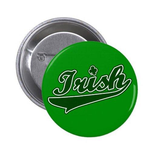 Botón irlandés verde del trébol pin redondo de 2 pulgadas