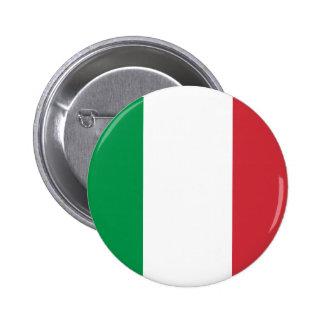 Botón italiano de la bandera