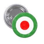 Botón italiano de la blanco de la MOD Pin Redondo De 1 Pulgada