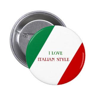 Botón ITALIANO del ESTILO Pin Redondo De 2 Pulgadas