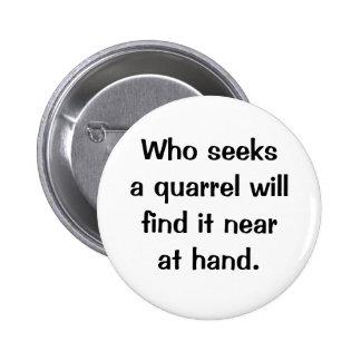 Botón italiano del proverbio No 214 Pins