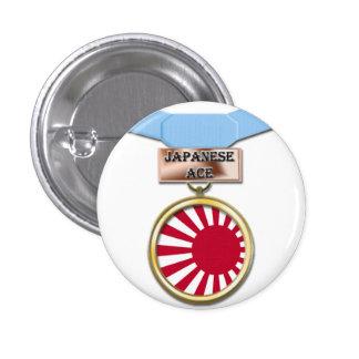 Botón japonés de la medalla del as