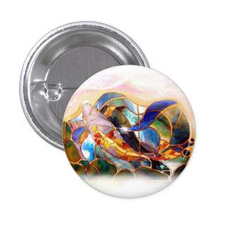 Botón japonés del arte de los pescados de cristal pin