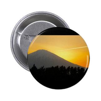 Botón japonés (el monte Fuji) Pin Redondo De 2 Pulgadas
