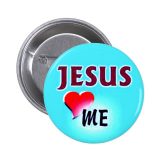 Botón-Jesús me ama Pin Redondo De 2 Pulgadas