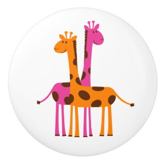 Botón/jirafas de cerámica pomo de cerámica