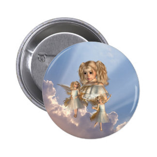 Botón joven de los ángeles pin