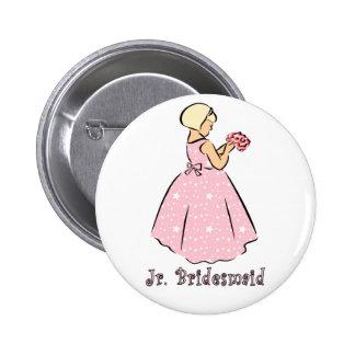 Botón: JR dama de honor Pin Redondo 5 Cm