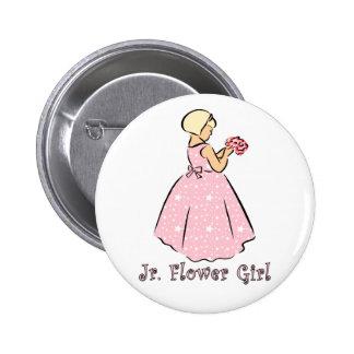 Botón: Jr. Florista en rosa Pins