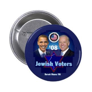 Botón JUDÍO de los VOTANTES Pin Redondo De 2 Pulgadas