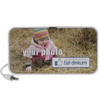 Botón justo de Dinkum en su foto iPhone Altavoces