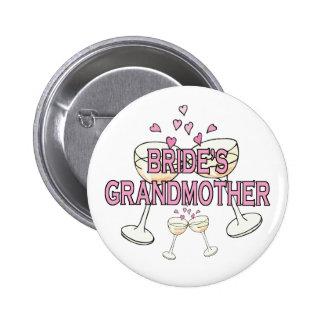 Botón: La abuela de la novia Pin Redondo De 2 Pulgadas