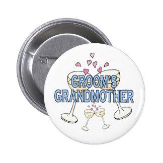 Botón: La abuela del novio Pin Redondo De 2 Pulgadas