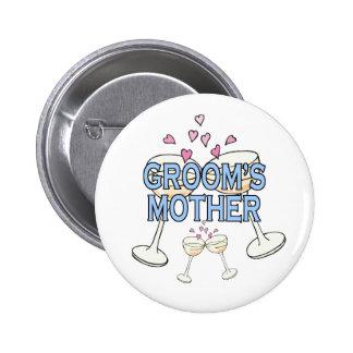 Botón: La madre del novio Pin Redondo 5 Cm