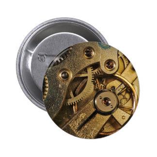 Botón: Latón Hearted. Mecanismo del reloj Pin Redondo De 2 Pulgadas