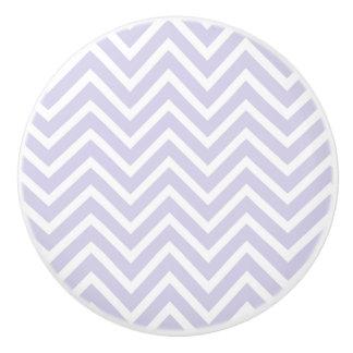 Botón/lavanda de cerámica Chevron Pomo De Cerámica
