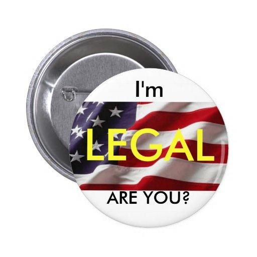 Botón legal pin redondo de 2 pulgadas