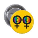 Botón lesbiano del símbolo pins
