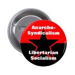 botón libertario del socialismo del anarcho-sindic pin