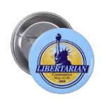 Botón libertario Denver LP del convenio Pin