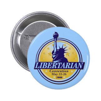Botón libertario Denver LP del convenio