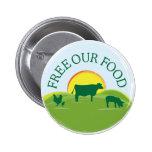 Botón libre de la comida de la gama pin