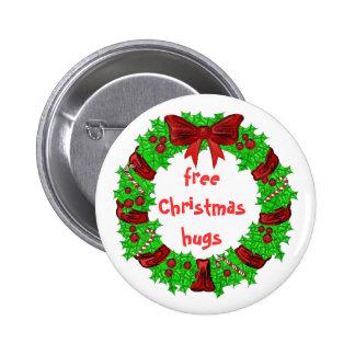 botón libre de los abrazos del navidad pin