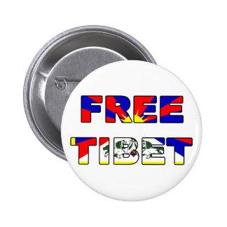 Botón libre de Tíbet Pin