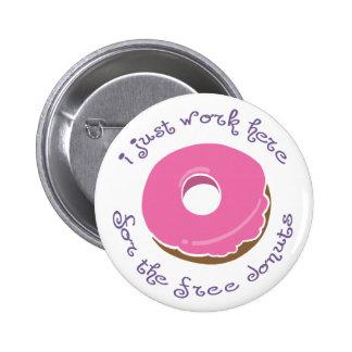 Botón libre del buñuelo pin redondo de 2 pulgadas