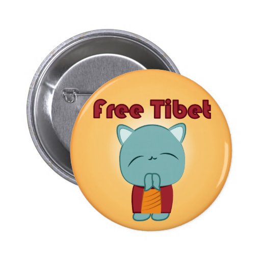 Botón libre del gatito de Kawaii Tíbet Pin