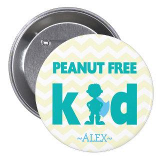 Botón libre del muchacho del super héroe del pin redondo de 3 pulgadas