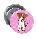 Botón lindo de Jack Russell del perro del dibujo a Pin