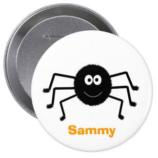 Botón lindo de la araña negra de Halloween Pins