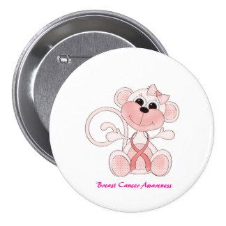 Botón lindo de la conciencia del cáncer de pecho pin redondo de 3 pulgadas