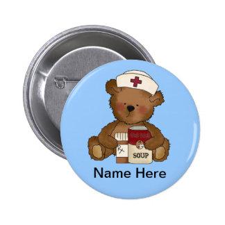 Botón lindo de la enfermera pin redondo de 2 pulgadas