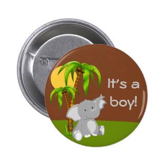 Botón lindo de la fiesta de bienvenida al bebé del pin redondo de 2 pulgadas