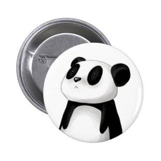 Botón lindo de la panda pin redondo de 2 pulgadas
