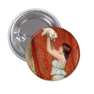 Botón lindo de la pintura del gatito pins