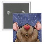 Botón lindo de la rata del corazón pins