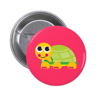 Botón lindo de la tortuga pin