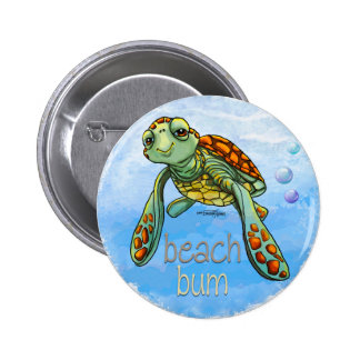 Botón lindo de la tortuga de mar