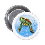 Botón lindo de la tortuga de mar pins