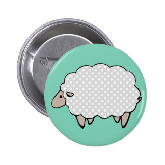 Botón lindo de las ovejas de Polkadot