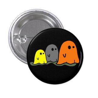 Botón lindo de los fantasmas de Halloween