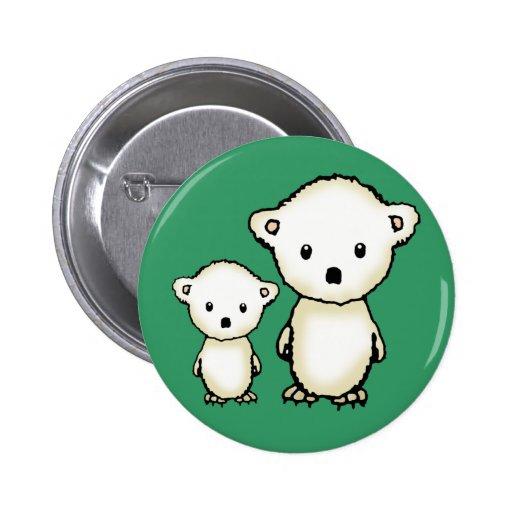 Botón lindo de los osos polares