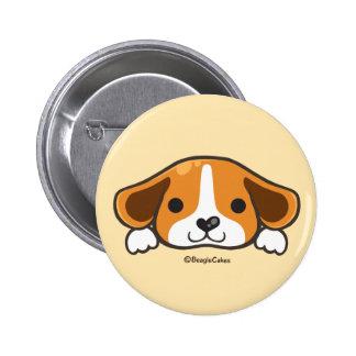 Botón lindo de Pinback del beagle Pin Redondo De 2 Pulgadas