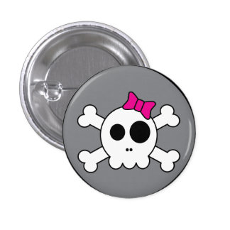 Botón lindo de Skully