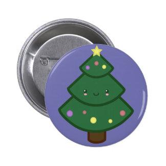 Botón lindo del árbol de navidad pins